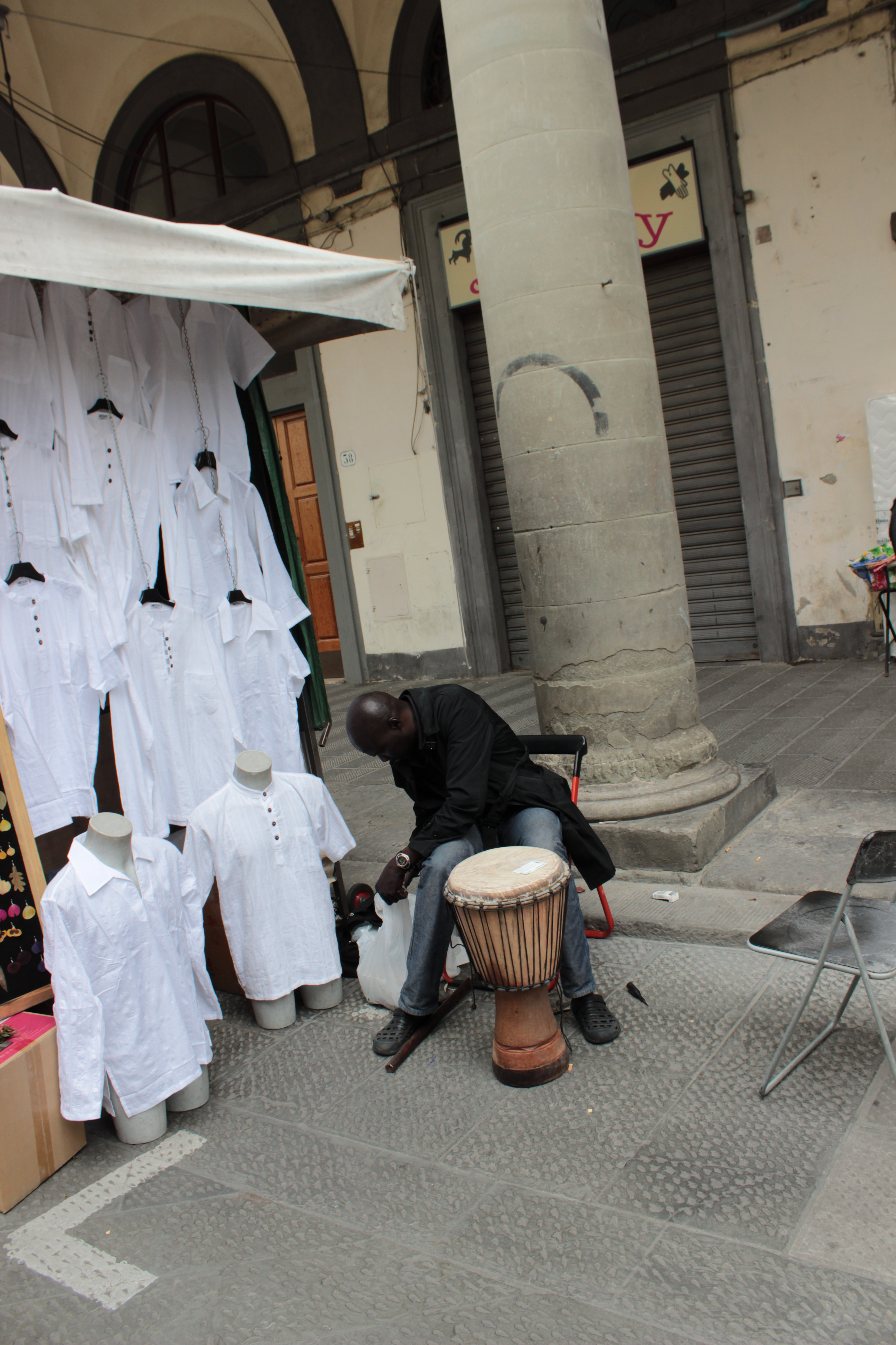 Street vendor on the streets of Florence