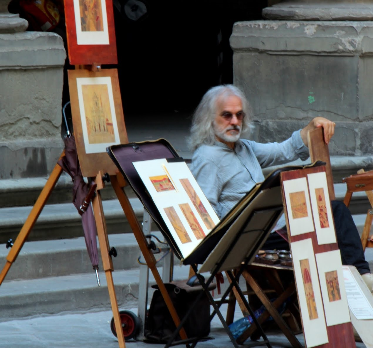 Sean Connery lookalike in Florence, Italy