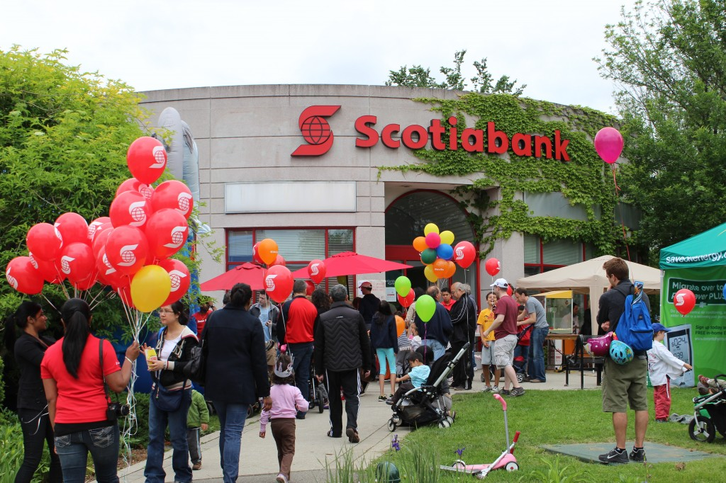 Scotiabank participating in the Toronto Yonge Lawrence Event