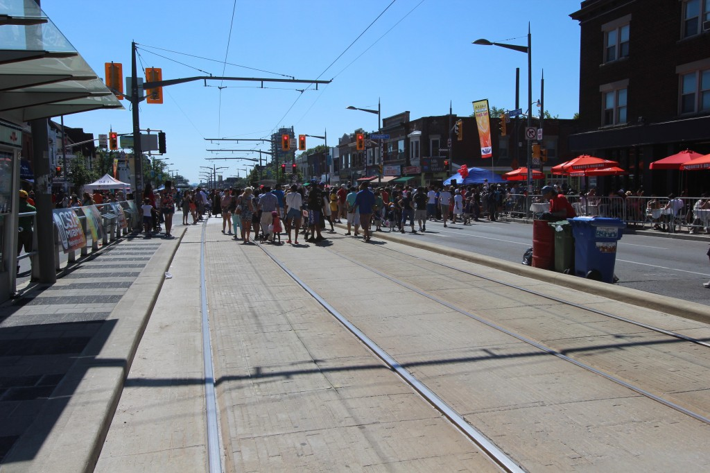 A very hot day for Salsa on St. Clair