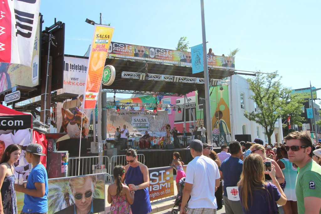 The main stage was set up for TNL (Telelatino Network), one of the three sponsors of the event.
