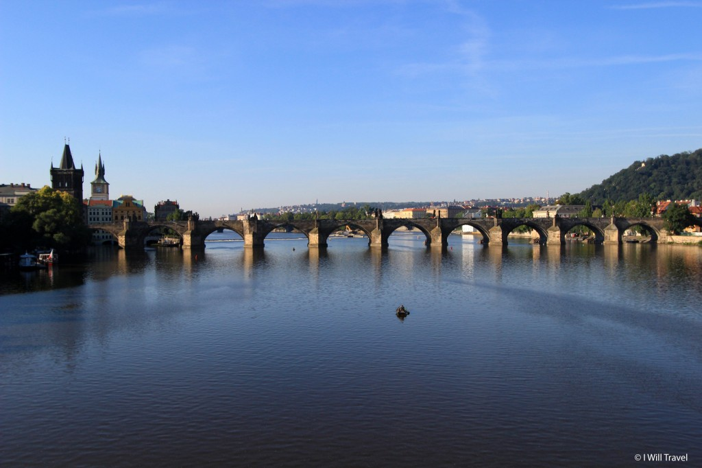 The Vltava, the longest river in the Czech Republic as seen from Prague