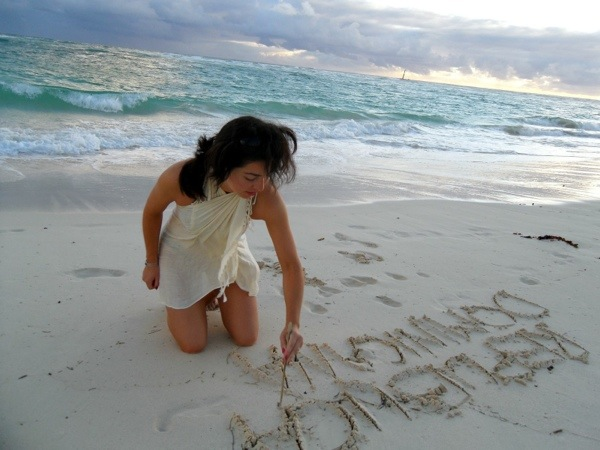 Writing on the sand
