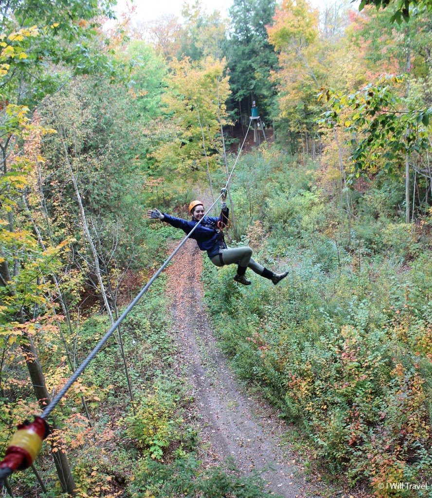 Zip lining at Treetop Eco Adventure Park