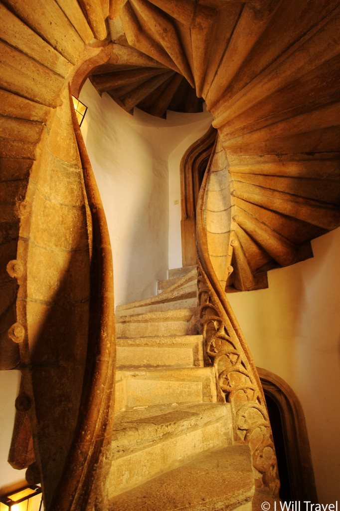 A double-spiral stair case