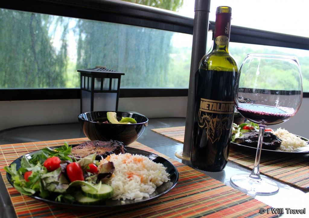Metaldays Merlot, paired with grilled steake.