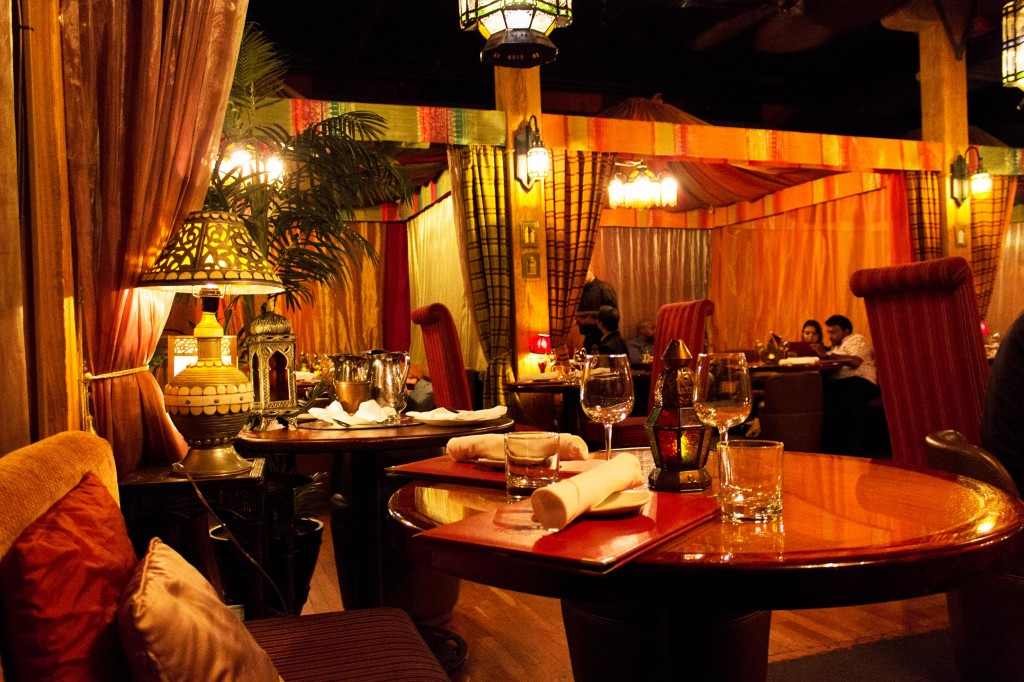 The Sultan's Tent dinning area