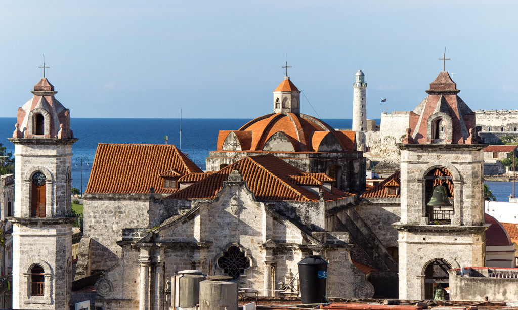 View of Havana from the Hotel Ambos Mundos roof terrace.