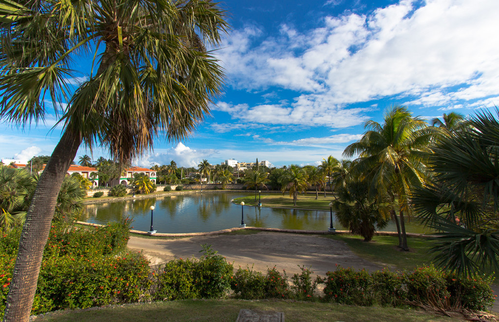 View of part of the lagoon that surrounds Josone Park in Varadero, Cuba