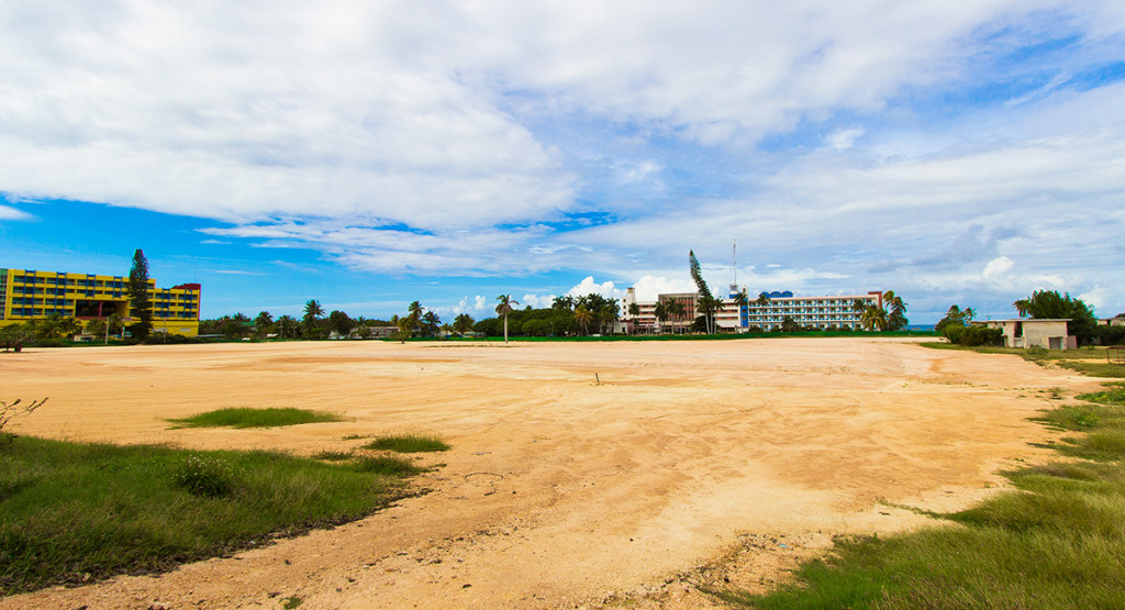 An empty lot in Varadero getting prepped for construction of another resort.