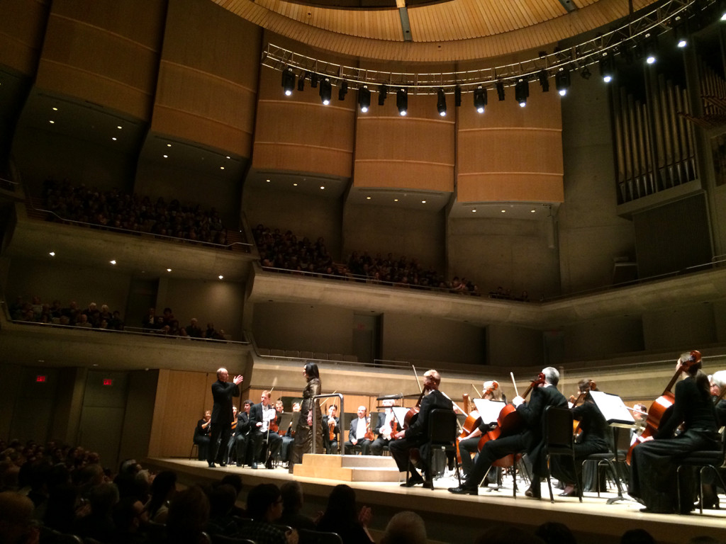 The Toronto Symphony Orchestra playing at Roy Thomson Hall