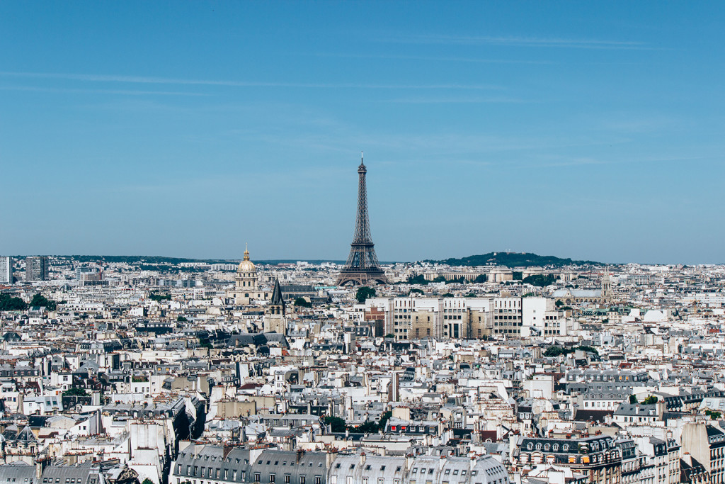View of Paris and the Eiffel tower