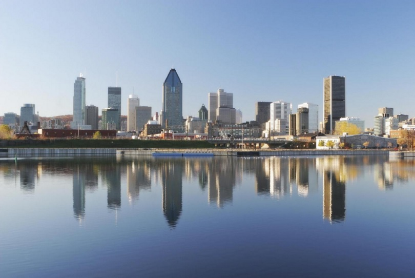 Skyline of the city of Montreal, Canada.