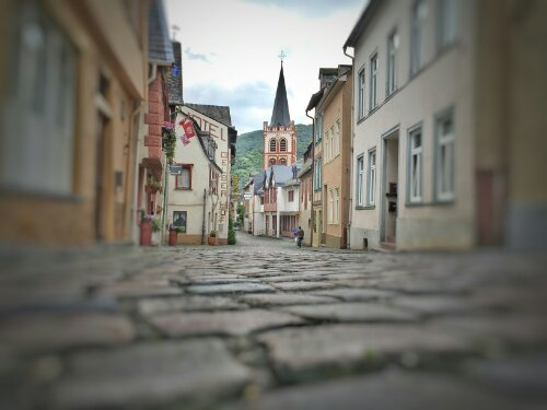 Cobblestone street of Bacharach